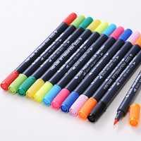 0.8 mm 12/24 Colors Pens Super fine Marker Pen Water Based Assorted Ink Arts Drawing For Children