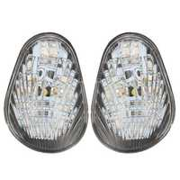 12V Clear LED Turn Signal Indicator Light Flush Mount For Yamaha YZF R1 R6 R6S