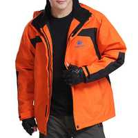Windproof Waterproof Breathable Warm Hood Outdoor Jacket