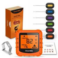 Smart Wireless bluetooth Digital Thermometer with 6 Probes Cooking BBQ for iOS & Android