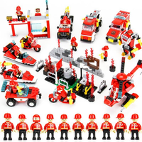 Cikoo 8 in 1 845pcs Building Blocks Fire Station DIY Educational Intelligence Creative Plaything Kids Toys
