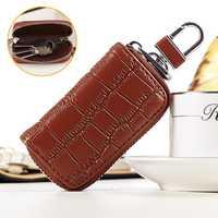 Genuine Leather Key Holder Car Key Case Bag