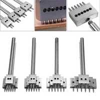 3pcs 4/5/6/8mm 2/4/6 Teeth Leather Craft Tools Hole Chisel Graving Stitching Punch Tools Kit