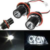 2Pcs Car LED Angel Eye Halo Light Bulb for BMW 5 6 7 Series