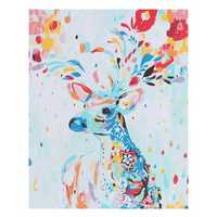 No Frame Canvas Paint Colorful Deer Elk Digital Diy Oil Paintings By Numbers Animals Modern Paint Home Wall Hanging Decorations