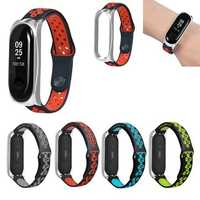 Bakeey Metal Shell Air Hole Watch Band Soft Wrist Band for Xiaomi Mi Band 3