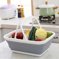 Honana CF-SC61 Collapsible Silicone Vegetable Fruit Laundry Basket Storage Travel Camping Organizer