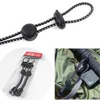 2pcs Outdoor Backpack Mountaineering Climbing Stick Rope Clip Buckle Fixed Buckle Elastic Rope Bundle Buckle Sling Elastic Tail Rope