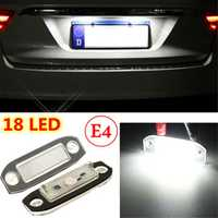 2x LED Licence Number Plate Light For Volvo C70 S40 S60 V50 V60 V70 XC60 XC90