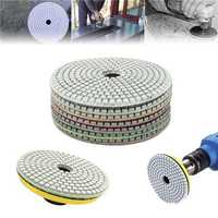 7pcs 5 Inch 50-3000 Grit Diamond Polishing Pad Sanding Disc for Marble Concrete Granite Glass