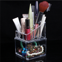 Acrylic Clear Make Up Storage Cosmetic Organizer Makeup Nail Polish Display Case Holder