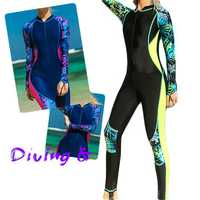 Women Full Body Dive Skin Snorkeling Rush Guard Anti-UV Lycra Suit Thin Swimming Suit