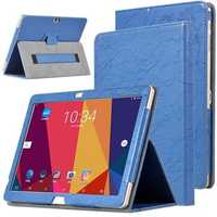 PU Leather Case Folding Stand Cover For 10.1 inch ALLDOCUBE Cube Free Young X7 Tablet Blue