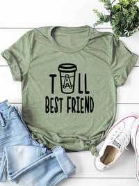 Casual Letter Print Crew Neck Short Sleeve Women T-shirts