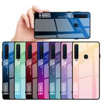 Bakeey Gradient Tempered Glass Protective Case For Samsung Galaxy A9 2018 Scratch Resistant Back Cover