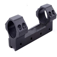 AURKTECH 25.4mm Aperture Scope Ring High Profile Fit for 20mm Card Slot Rail Flashlight Mounts
