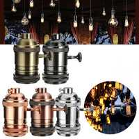 E26/E27 Retro Vintage Edison Industrial Light Bulb Lamp Holder Socket With Switch