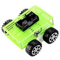 Small Four Wheel Car Toy Kit Handmade Assembly Material Package For Children