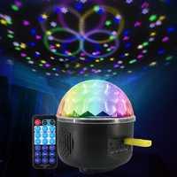Remote Control Crystal Magic Ball 6 LED Stage Light Party Disco DJ Club KTV