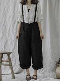 Women Strap Wide Leg High Waist Pockets Overalls