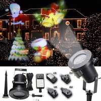 Waterproof Colorful Santa Claus Pattern LED Christmas Moving Laser Projector Landscape Stage Light