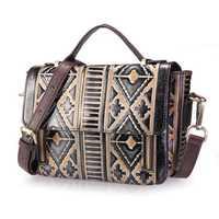 Brenice Genuine Leather National Handbag Crossbody Bag