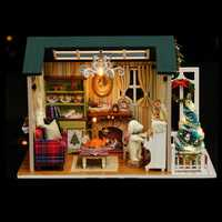 CuteRoom Z-009-A Dollhouse DIY Doll House Miniature Kit Collection Gift With Light