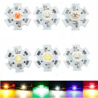 3W High Power LED PCB Bulb Beads Chips Car Indoor Reading Lamp Aquarium Heat Sink