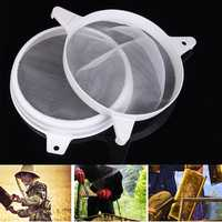 Honey Strainer Double Sieve Filter Beekeeping Tools Set Skimmer Fiber Net Apiary Equipment