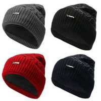 Fashion Men Camping Hat Winter Beanie Baggy Warm Wool Fleece Ski Cap