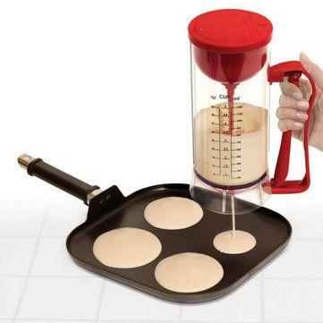 Cordless Electric Pan Cake Cup Cake Waffles Batter Mixer Dispenser Maker Machine