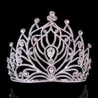 Bride Rhinestone Crystal Crown Wedding Bridal Party Pageant Tiara Comb Princess Queen Headpiece