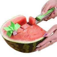 Watermelon Cutter Windmill Shape Slicer Stainless Steel Power Saver Fruit Cutters Vegetable Cutter