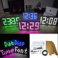 Geekcreit® DIY DS3231 Touch Key Control Brightness Adjustable Big Size Dot Matrix Alarm Clock Kit