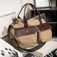 Men Canvas Outdoor Large Capacity Shoulder Sling Bag