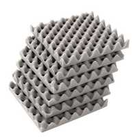 6Pcs 30x30x4cm Acoustic Soundproofing Foam Tiles Convoluted Egg Studio Sound Insulation Cotton