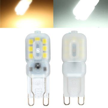 ZX Dimmable G9 3W Transparent Milky 14 SMD 2835 LED Pure White Warm White Corn Light 110V 220V