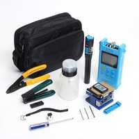 Fiber Optic FTTH Tool Kit with FC-6S Cleaver Optical Power Meter Visual Fault Locator Finder Cable Cutter Stripper Plier