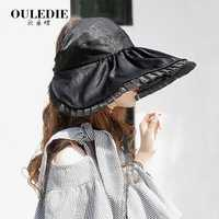 Women Summer Lace Foldabel Wide Brim Hat