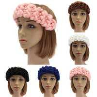 Vintage Handmade Knitting Hair Band Head Wrap Hair Accessories Winter Autumn 5 Colors