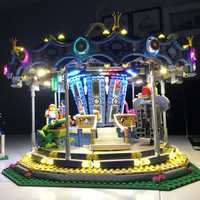 LED Light Brick Kit Toys USB Port For LE-GO Street Series New Carousel Set 10257 /15036 Blocks Accessories Decor