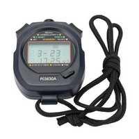 Digital Stopwatch Timer Handheld 30 Memory 3 Row Display Electronic Pocket Running Timer