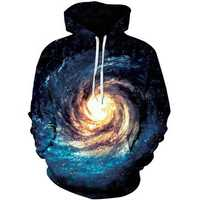 Mens Fashion Colorful Digital Printing Sweatshirt Couples Dress Baseball Uniform Hoodies