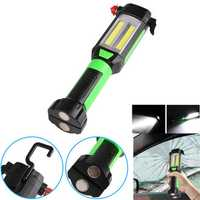 XANES LF31 2COB+LED Portable Flashlight Work Light with Tactical Head Hidden Knife Magnetic Tail Hanging Clip Hook