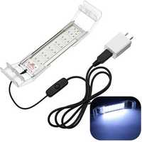 16cm 3.6W USB LED Aquarium Fish Tank Light Panel Blue White Lamp AC220V