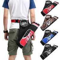 3-Tube Arrow Holder Archery Bow Quiver Adjustable Waist Belt Strap Pouch Bag