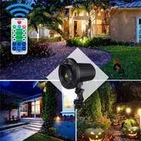 RG LED Laser Projector Stage Light Remote Control Spotlight Moving Lamp for Outdoor Landscape