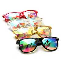 Kaleidoscope Steampunk Rave Glasses Diffraction Rainbow Crystal Glasses