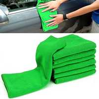 10pcs Soft Cleaning Cloth Green Micro Fiber Car Care Duster Towel 29x29cm