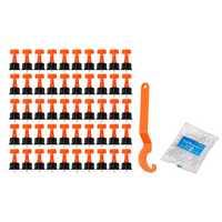 50pcs Ceramic Leveler Floor Wall Construction Tool Tile Leveling System Tools Kit